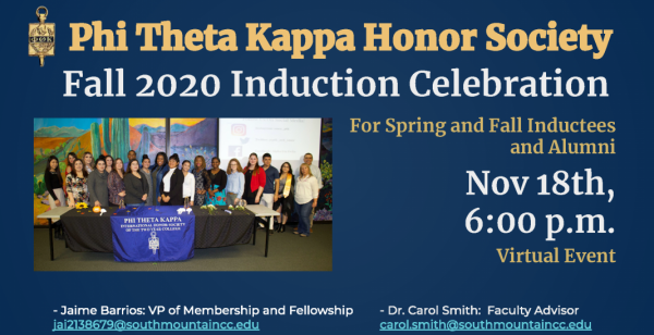PTK Fall Inductee Celebration